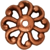 Bead Cap Open Scalloped 12mm Antique Copper